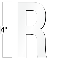 4 inch Die-Cut Magnetic Letter - R, White