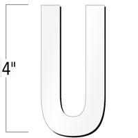 4 inch Die-Cut Magnetic Letter - U, White