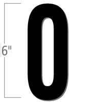 6 inch Die-Cut Magnetic Number - 0, Black