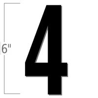6 inch Die-Cut Magnetic Number - 4, Black