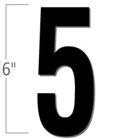 6 inch Die-Cut Magnetic Number - 5, Black
