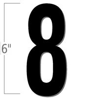 6 inch Die-Cut Magnetic Number - 8, Black
