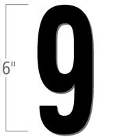 6 inch Die-Cut Magnetic Number - 9, Black