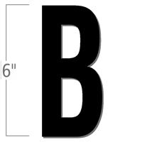 6 inch Die-Cut Magnetic Letter - B, Black