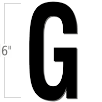 6 inch Die-Cut Magnetic Letter - G, Black