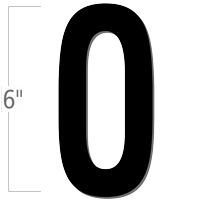 6 inch Die-Cut Magnetic Letter - O, Black