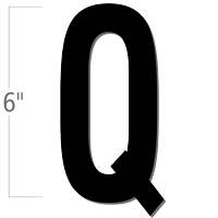 6 inch Die-Cut Magnetic Letter - Q, Black