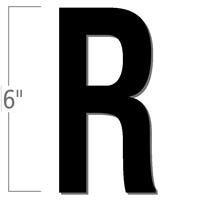 6 inch Die-Cut Magnetic Letter - R, Black