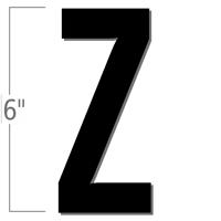 6 inch Die-Cut Magnetic Letter - Z, Black