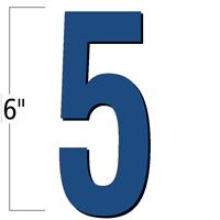 6 inch Die-Cut Magnetic Number - 5, Blue