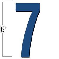 6 inch Die-Cut Magnetic Number - 7, Blue