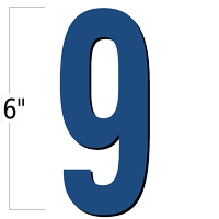 6 inch Die-Cut Magnetic Number - 9, Blue