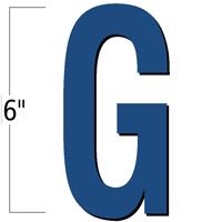 6 inch Die-Cut Magnetic Letter - G, Blue