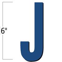 6 inch Die-Cut Magnetic Letter - J, Blue