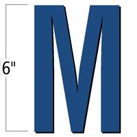 6 inch Die-Cut Magnetic Letter - M, Blue