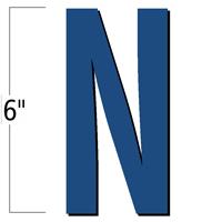 6 inch Die-Cut Magnetic Letter - N, Blue