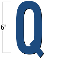 6 inch Die-Cut Magnetic Letter - Q, Blue