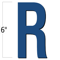 6 inch Die-Cut Magnetic Letter - R, Blue