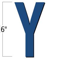 6 inch Die-Cut Magnetic Letter - Y, Blue