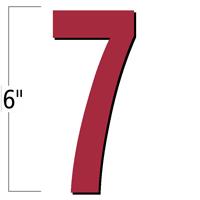 6 inch Die-Cut Magnetic Number - 7, Red