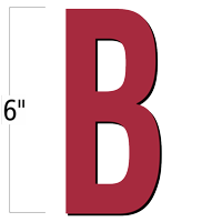 6 inch Die-Cut Magnetic Letter - B, Red
