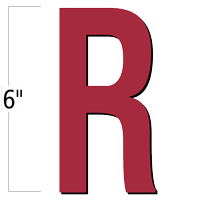 6 inch Die-Cut Magnetic Letter - R, Red