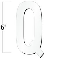 6 inch Die-Cut Magnetic Letter - Q, White