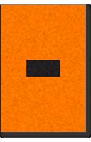 Engineer Grade Vinyl, 1 Inch, Black on Orange, Dash