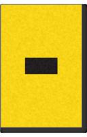 Engineer Grade Vinyl, 1 Inch, Black on Yellow, Dash