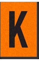 Engineer Grade Vinyl, 1 Inch Letter, Black on Orange, K