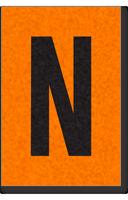 Engineer Grade Vinyl, 1 Inch Letter, Black on Orange, N
