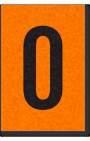 Engineer Grade Vinyl, 1 Inch Letter, Black on Orange, O