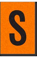 Engineer Grade Vinyl, 1 Inch Letter, Black on Orange, S
