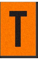 Engineer Grade Vinyl, 1 Inch Letter, Black on Orange, T