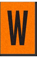 Engineer Grade Vinyl, 1 Inch Letter, Black on Orange, W