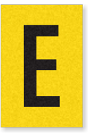 Engineer Grade Vinyl, 1 Inch Letter, Black on Yellow, E