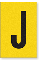 Engineer Grade Vinyl, 1 Inch Letter, Black on Yellow, J
