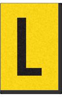 Engineer Grade Vinyl, 1 Inch Letter, Black on Yellow, L