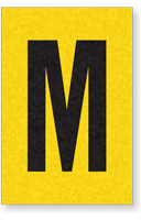 Engineer Grade Vinyl, 1 Inch Letter, Black on Yellow, M