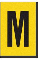 Engineer Grade Vinyl, 1 Inch Letter, Black on Yellow, M
