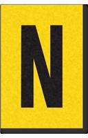 Engineer Grade Vinyl, 1 Inch Letter, Black on Yellow, N