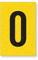 Engineer Grade Vinyl, 1 Inch Letter, Black on Yellow, O