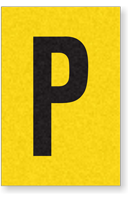 Engineer Grade Vinyl, 1 Inch Letter, Black on Yellow, P