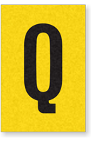 Engineer Grade Vinyl, 1 Inch Letter, Black on Yellow, Q