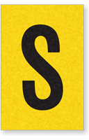 Engineer Grade Vinyl, 1 Inch Letter, Black on Yellow, S