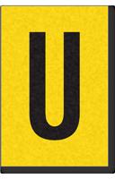Engineer Grade Vinyl, 1 Inch Letter, Black on Yellow, U