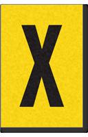 Engineer Grade Vinyl, 1 Inch Letter, Black on Yellow, X