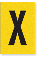 Engineer Grade Vinyl, 1 Inch Letter, Black on Yellow, X