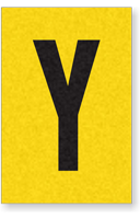 Engineer Grade Vinyl, 1 Inch Letter, Black on Yellow, Y