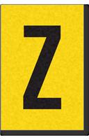 Engineer Grade Vinyl, 1 Inch Letter, Black on Yellow, Z